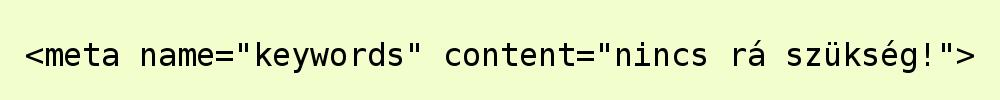 meta kulcsszavak, keywords használata